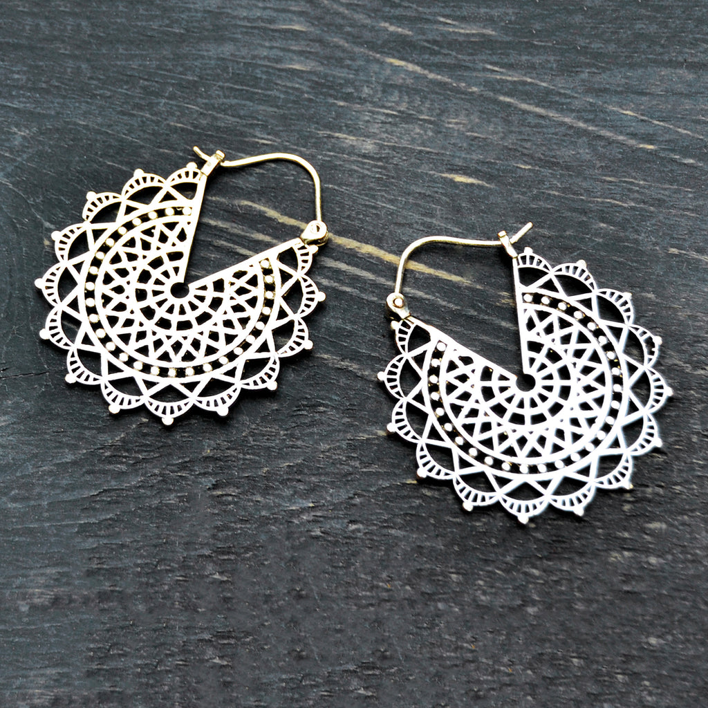 Mandala sun earrings