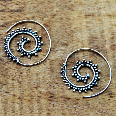 Spiral Silver Earrings
