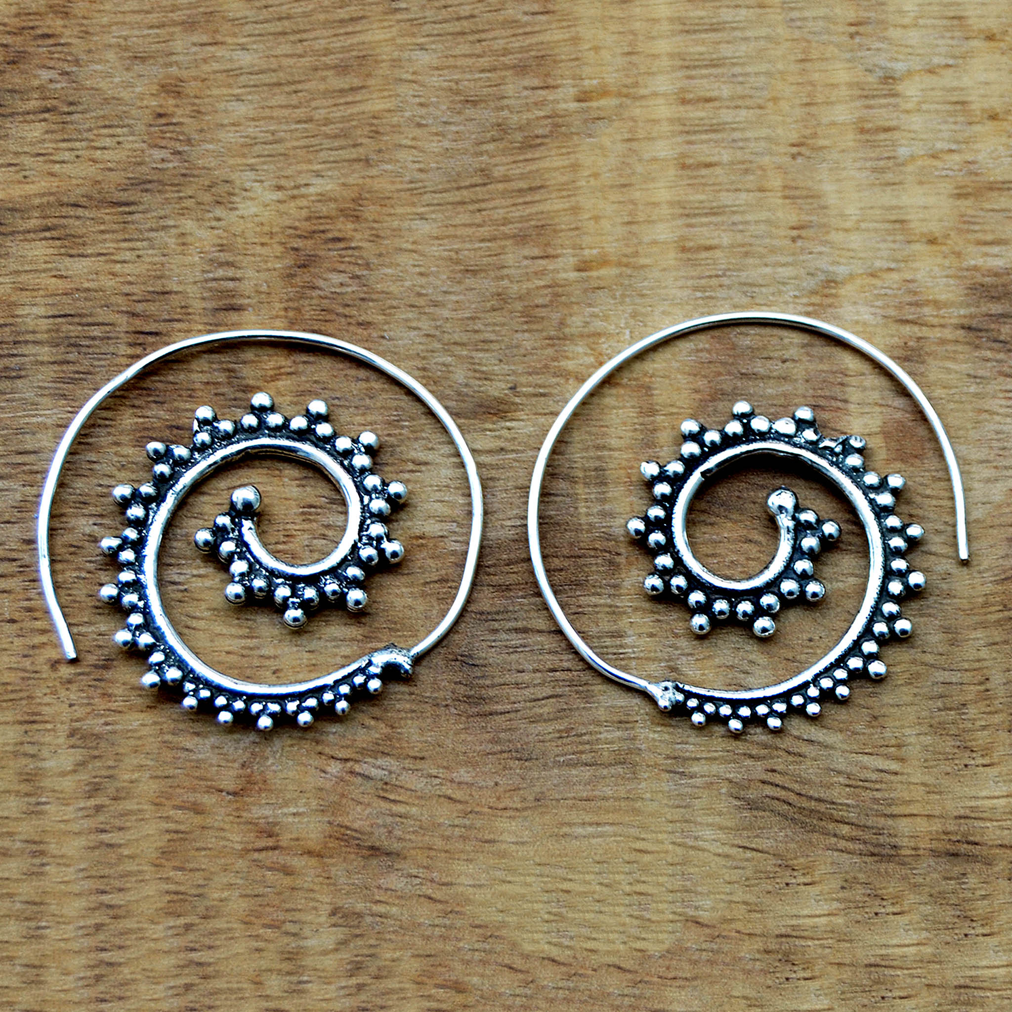 Spiral indian earrings