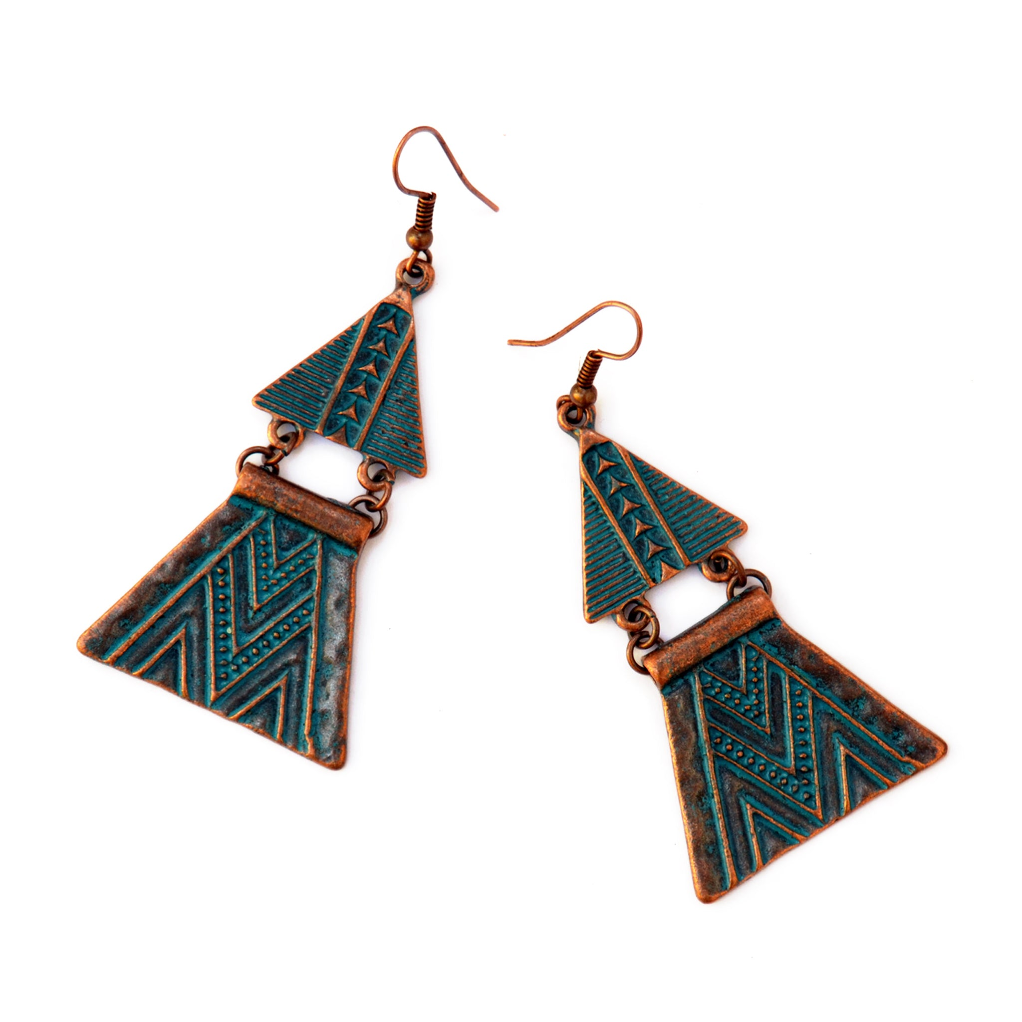 Boho aztec earrings