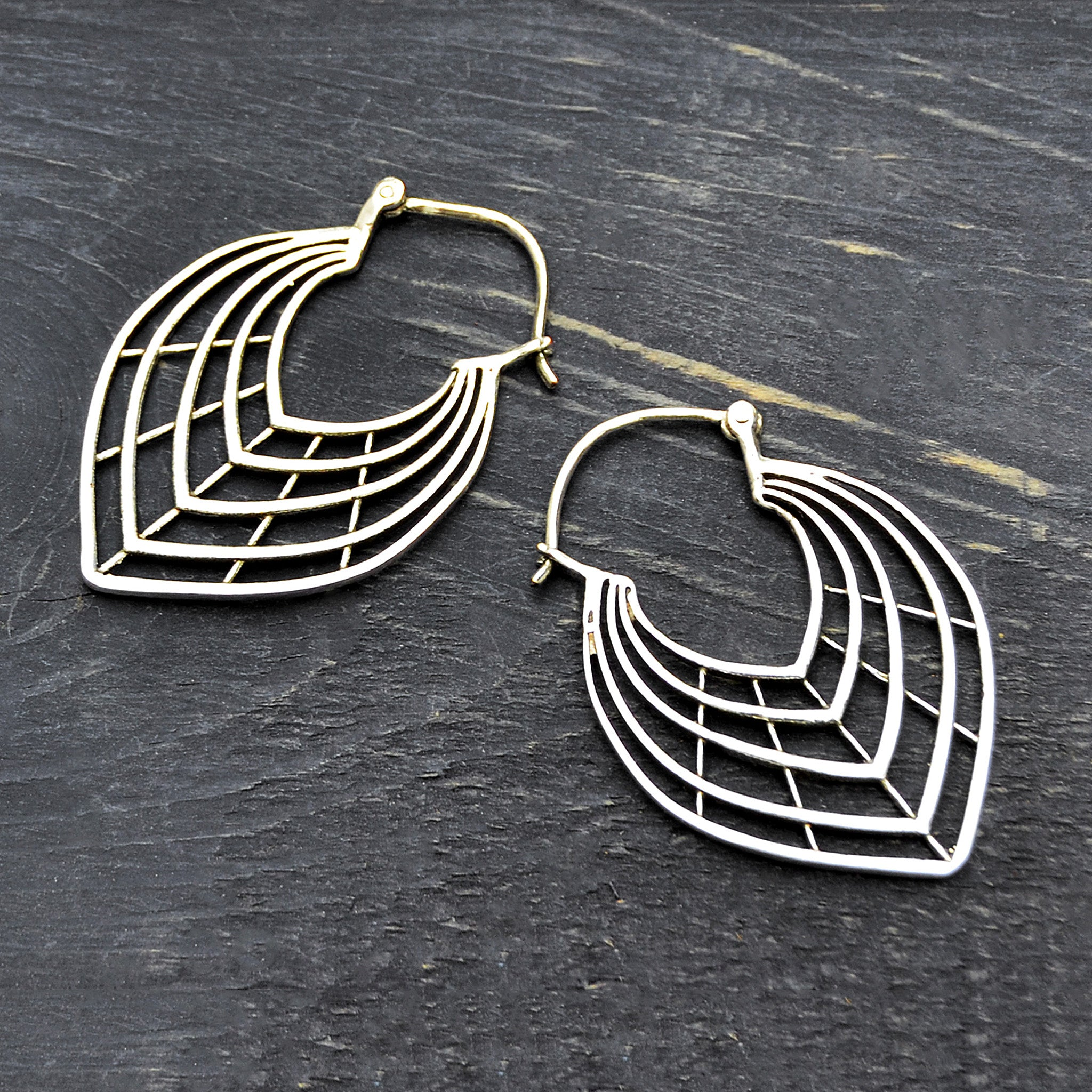 Ethnic leaf earrings