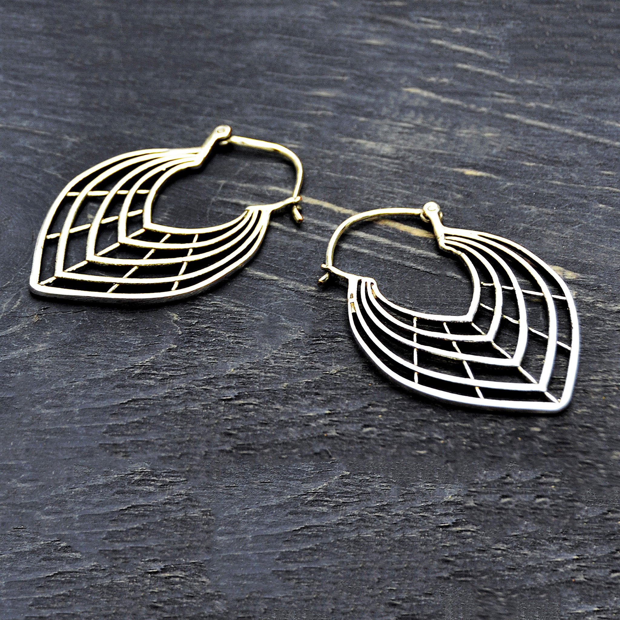 Tribal leaf earrings