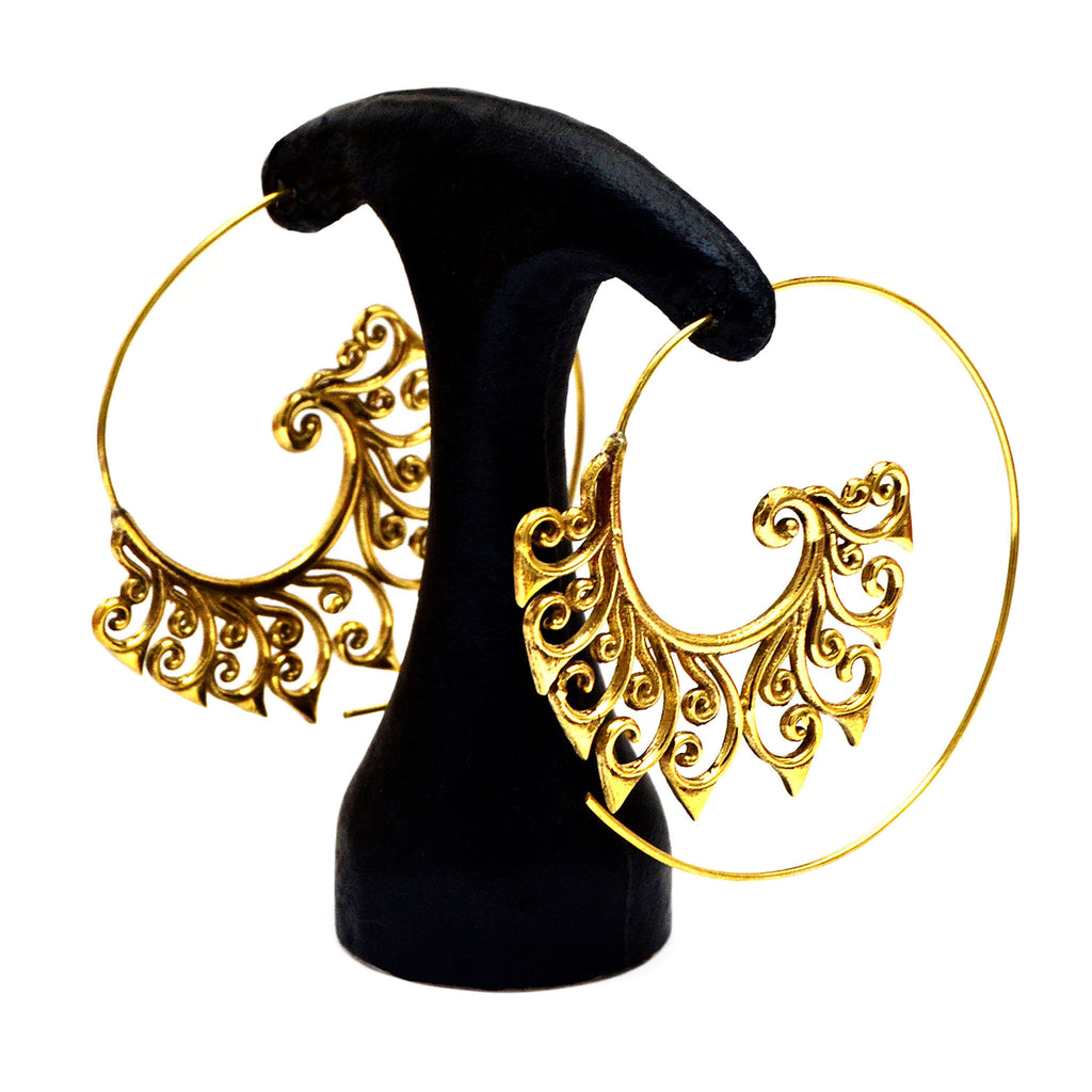 Spiral earrings gold