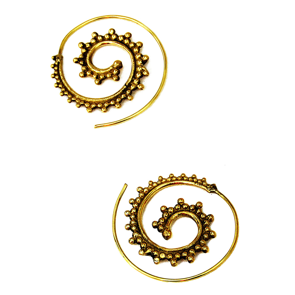 Gypsy spiral earrings