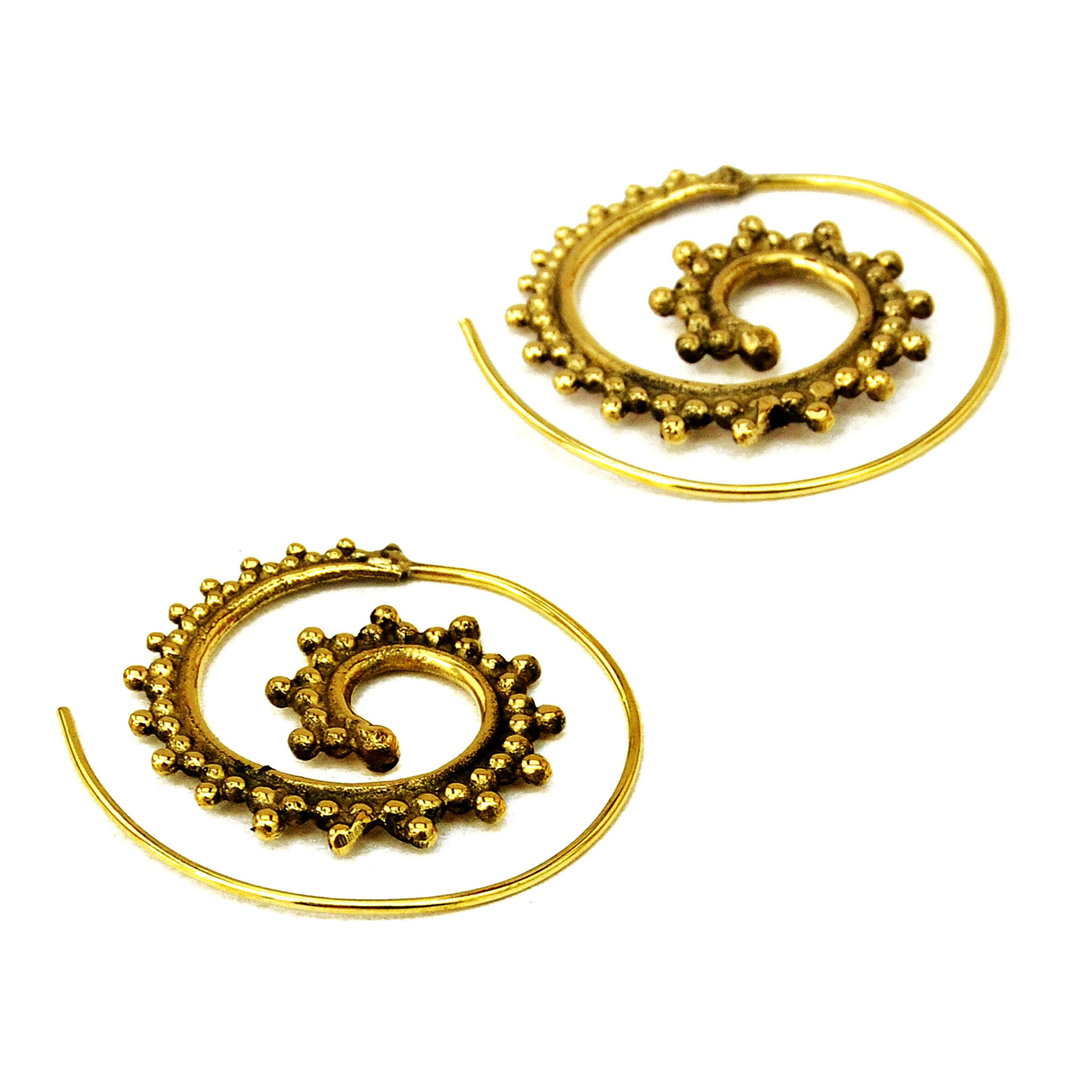 Brass festival earrings