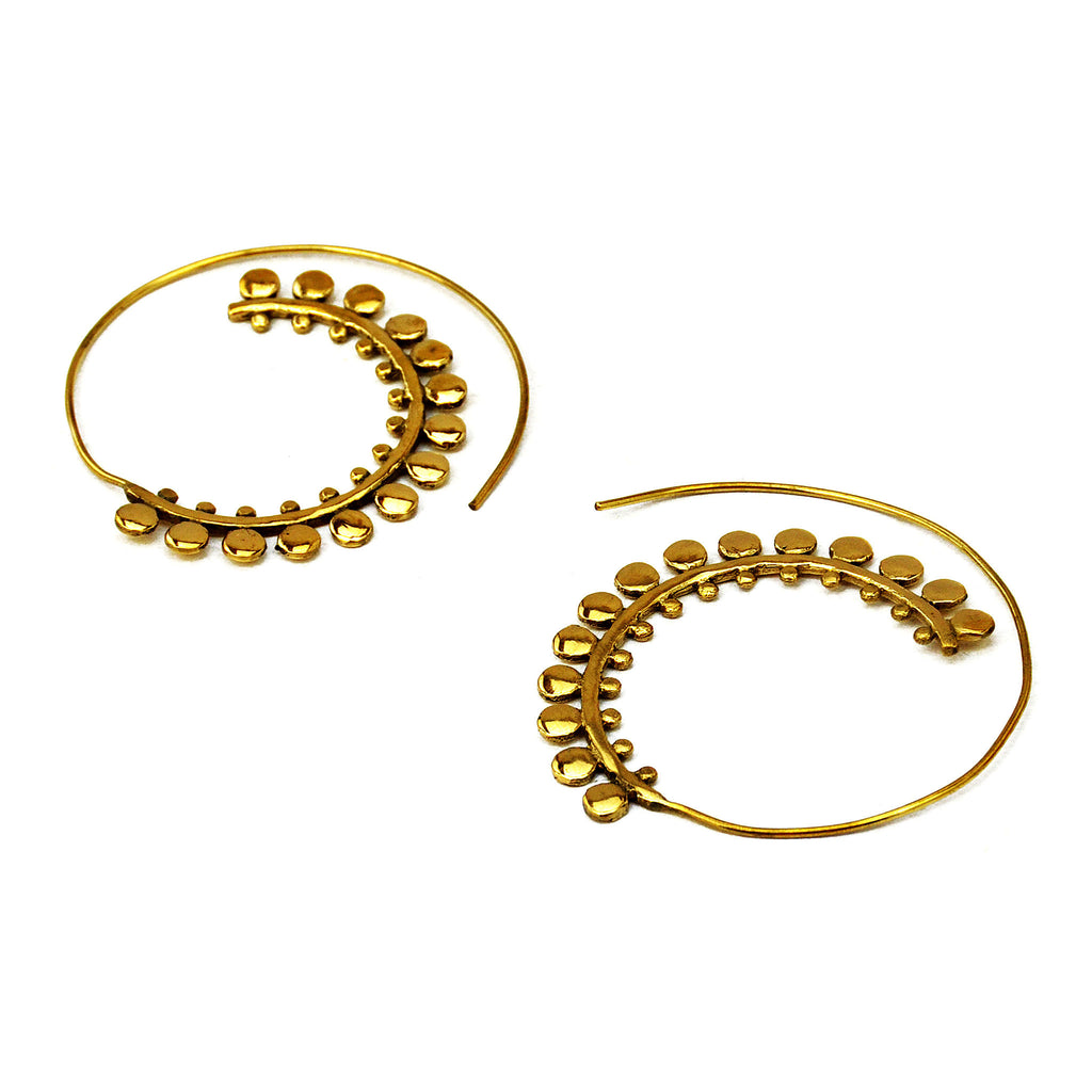 Spiral Ethnic Earrings
