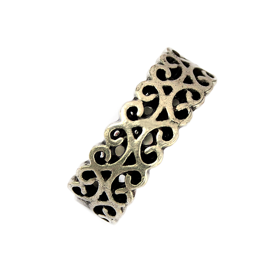 Adjustable filigree ring
