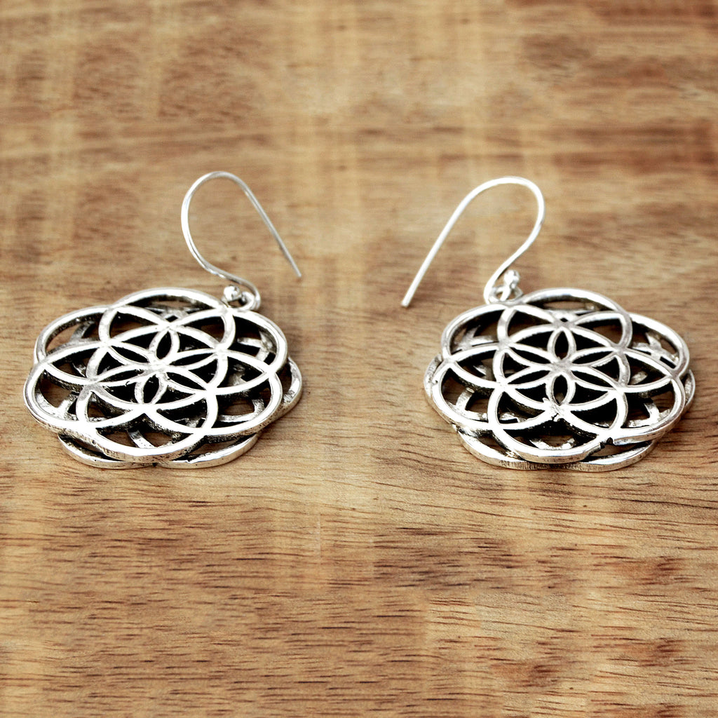 Double mandala earrings