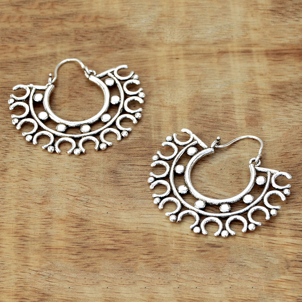 Indian circle earrings