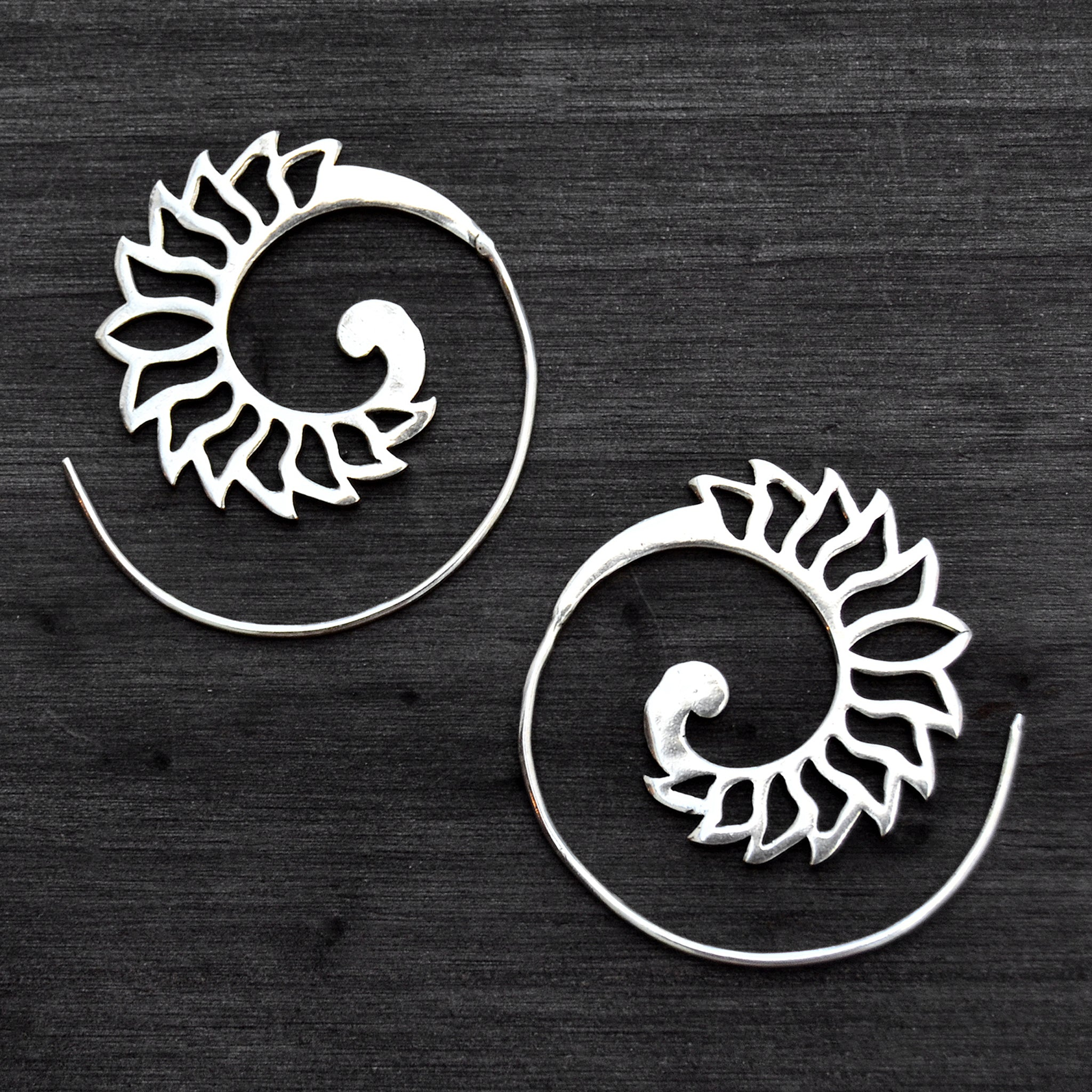 Spiral festival earrings