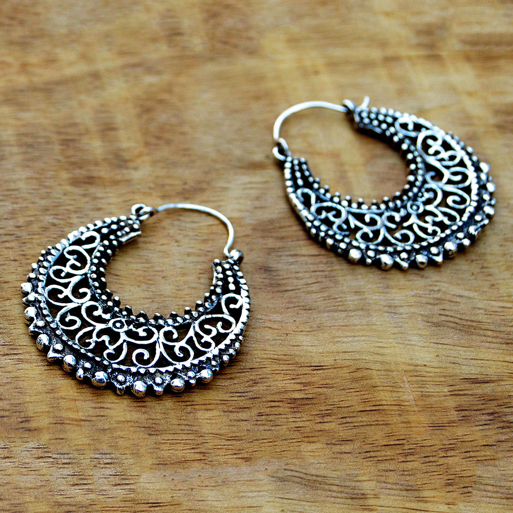 Ethnic filigree earrings