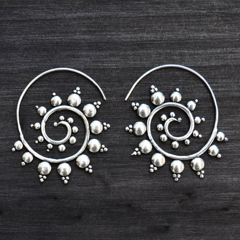 Spiral Nomad Gypsy Earrings