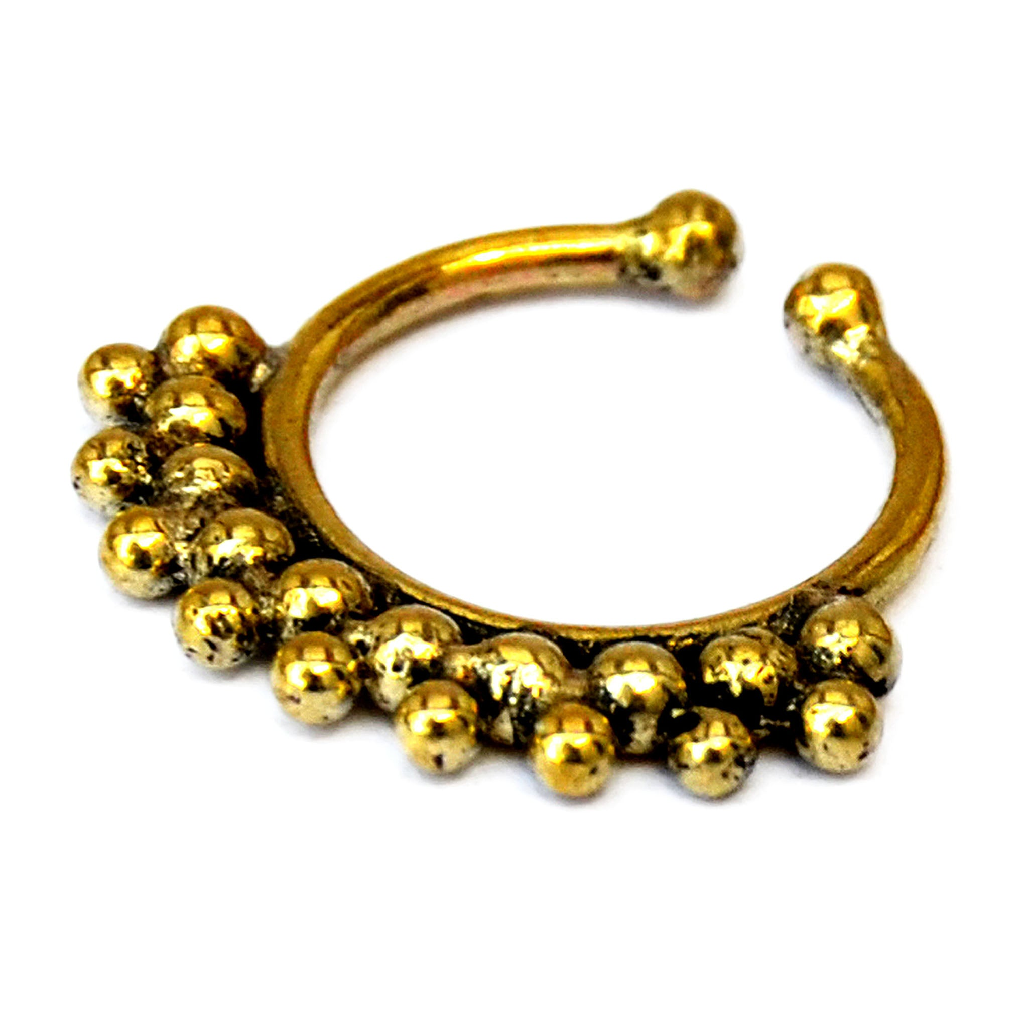 Indian septum ring gold