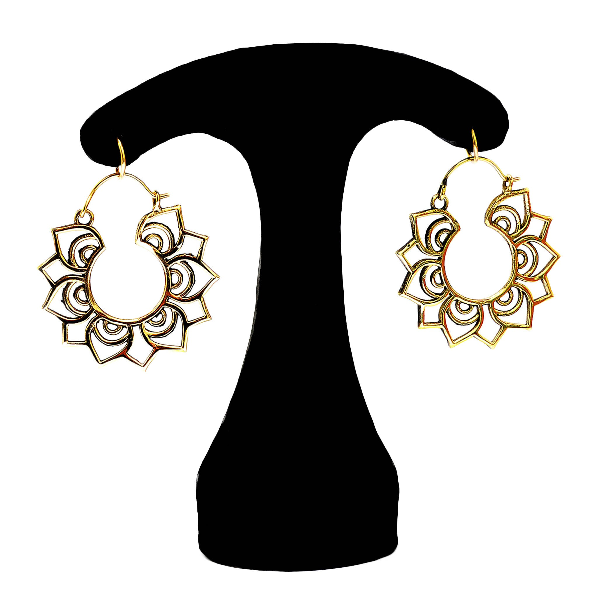 Ethnic earrings gold