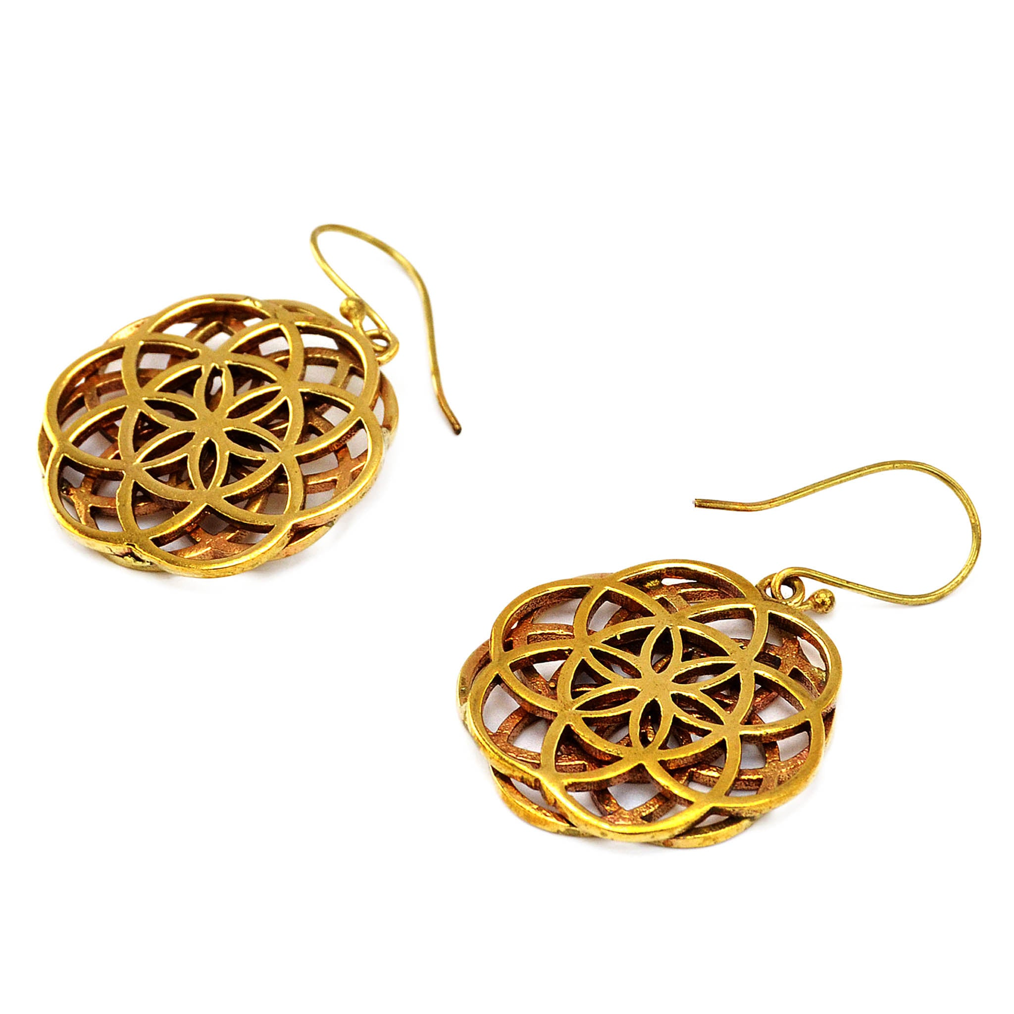 Tribal flower of life earrings