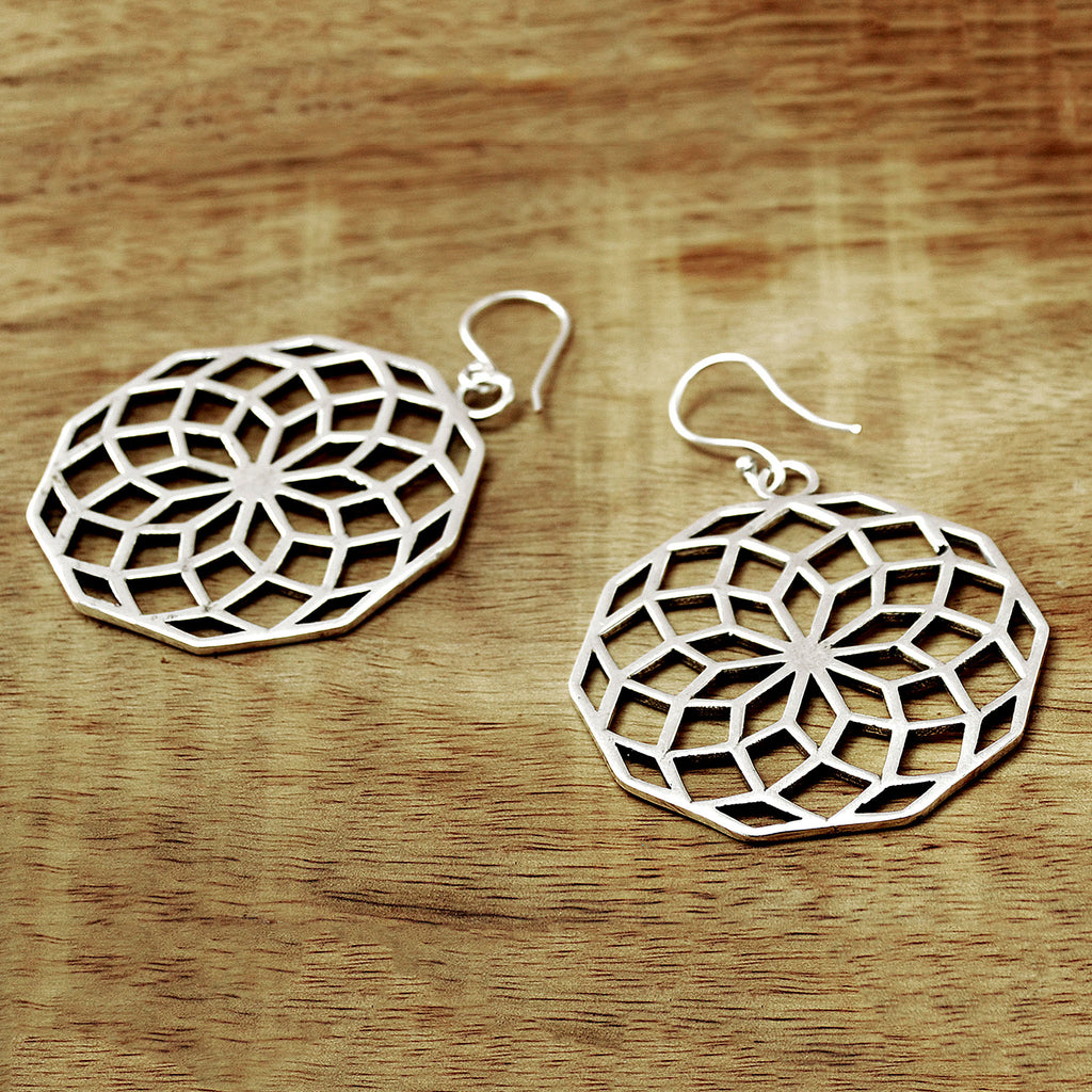 Large mandala earrings
