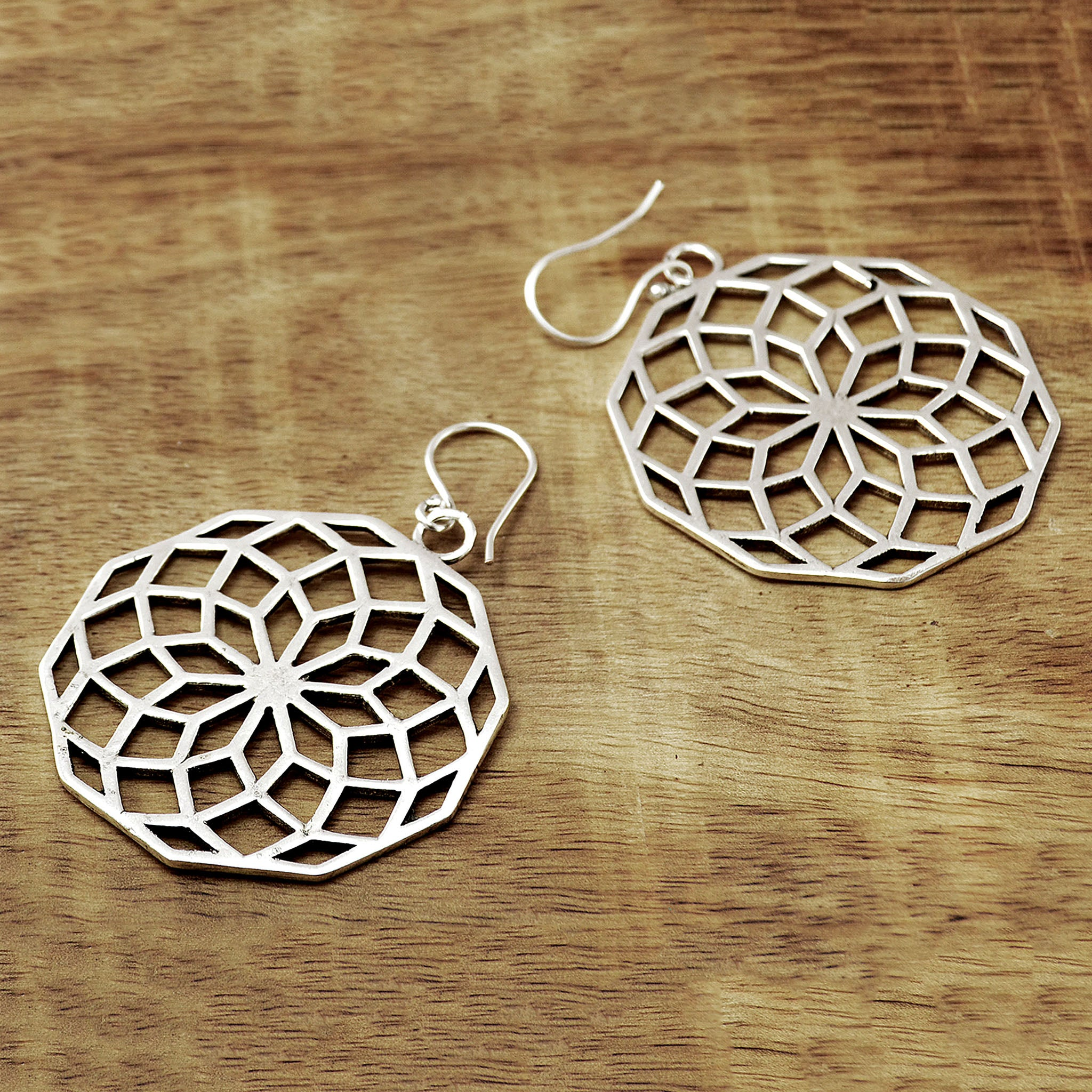 Hoop mandala earrings
