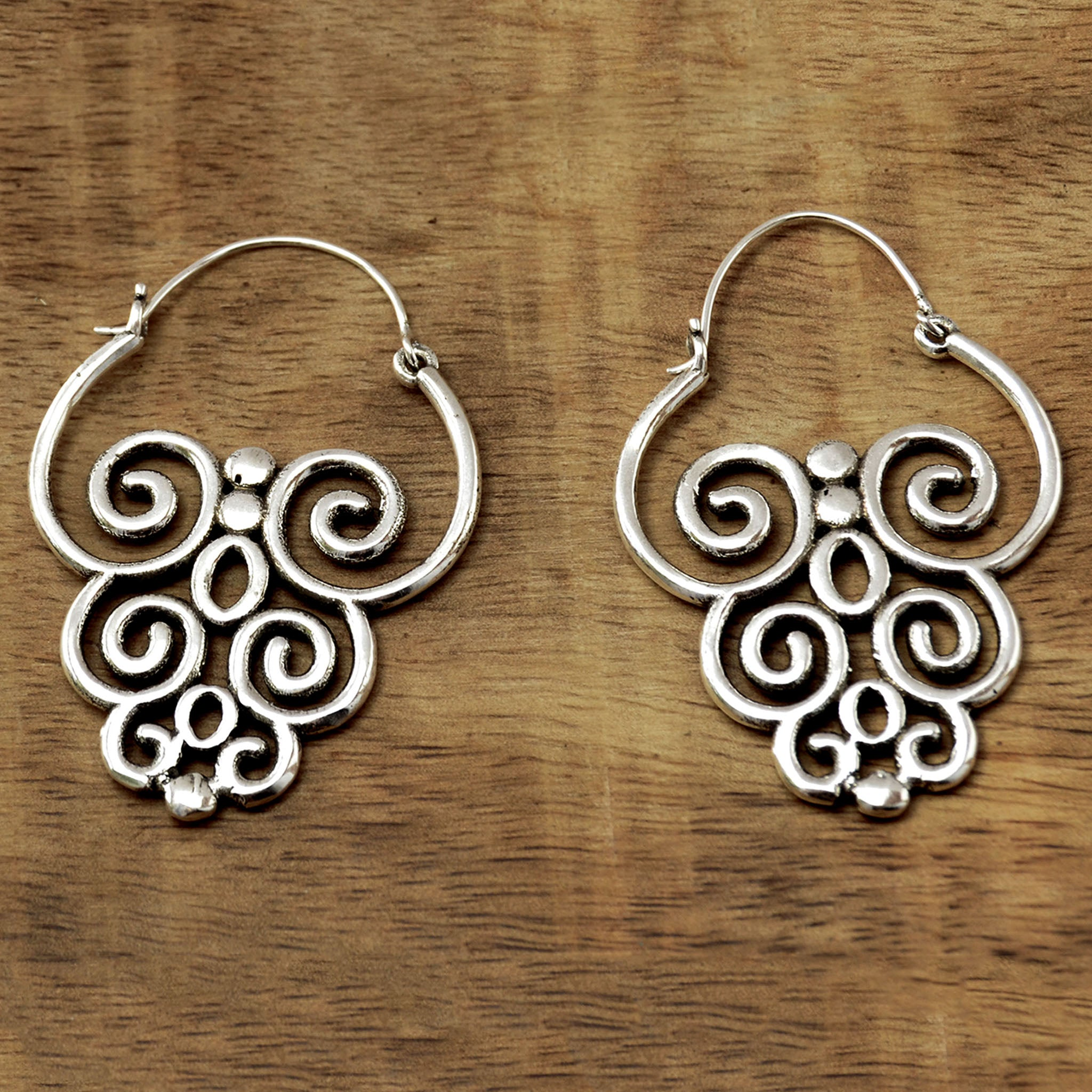 Intrincate earrings