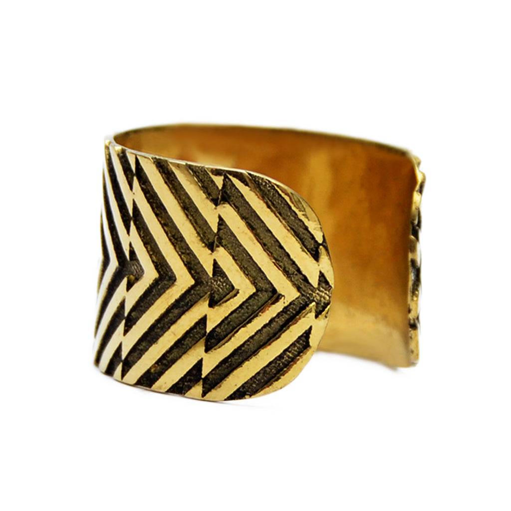 Brass ethnic ring