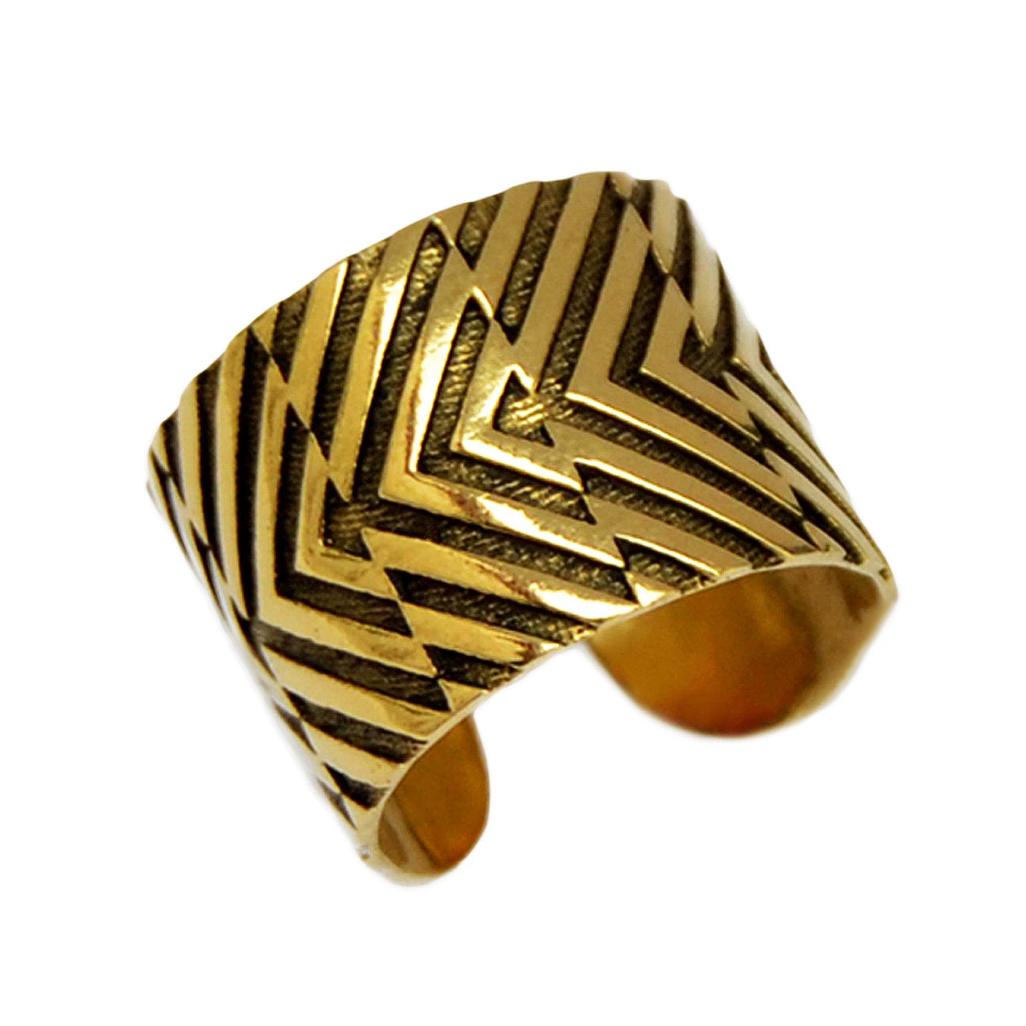 Geometric tribal ring