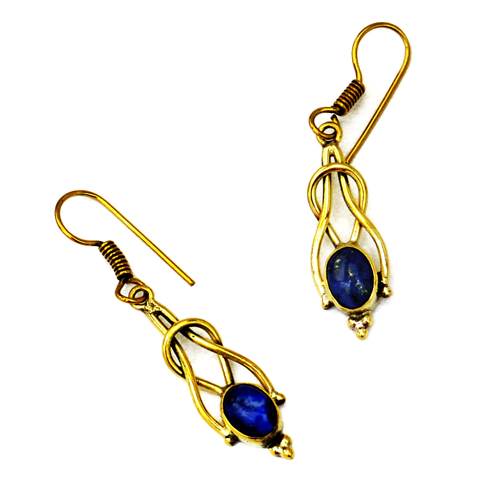 Vintage earrings with lapis