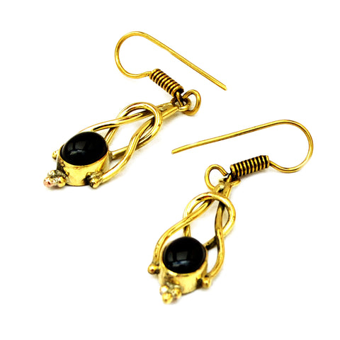 Drop Earrings with Black Onyx