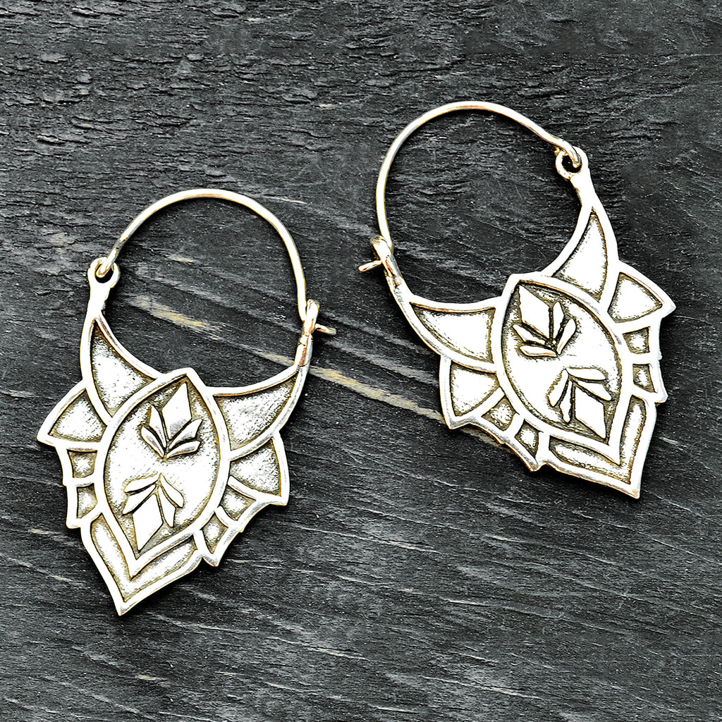 Ethnic dangle earrings