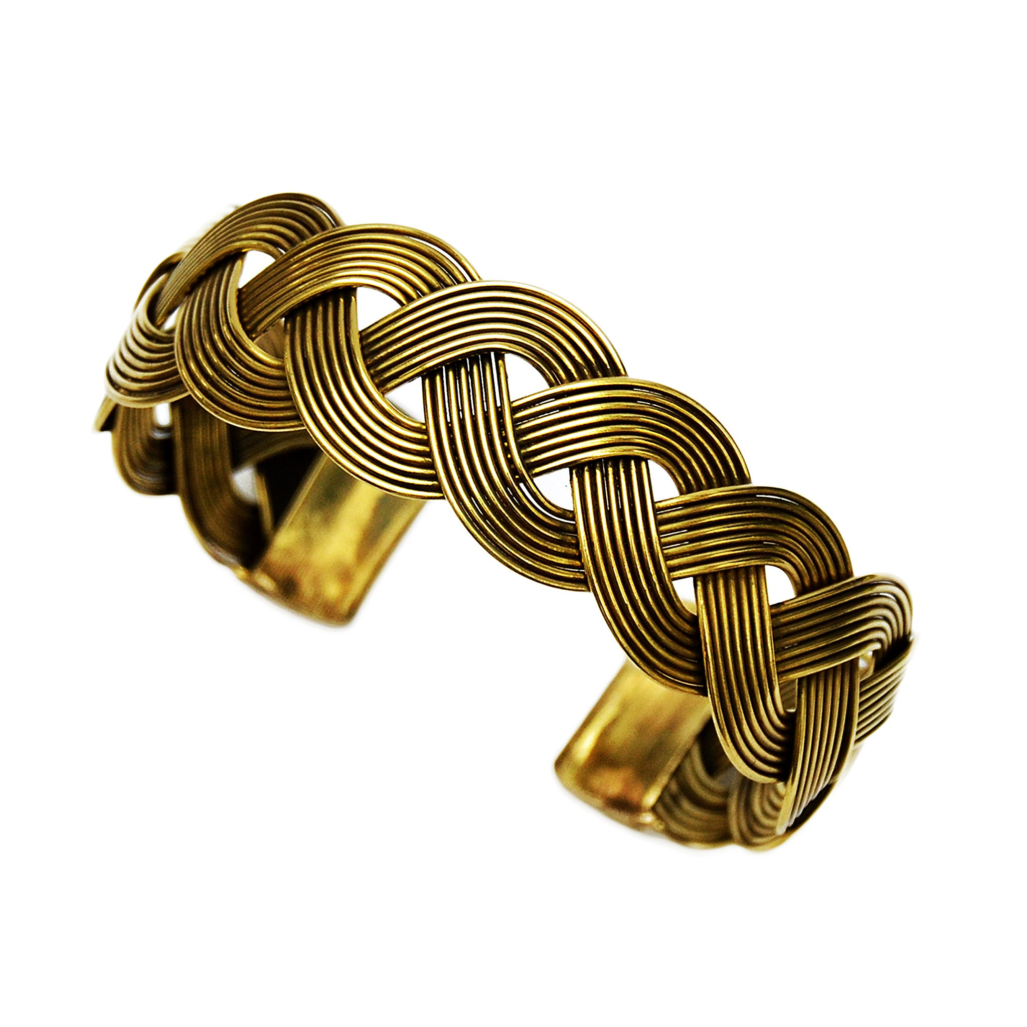 Tribal brass bracelet
