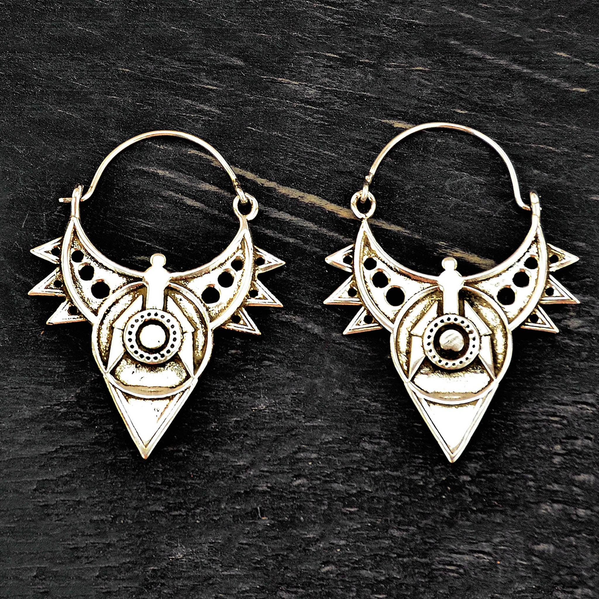 Silver Tribal Earrings