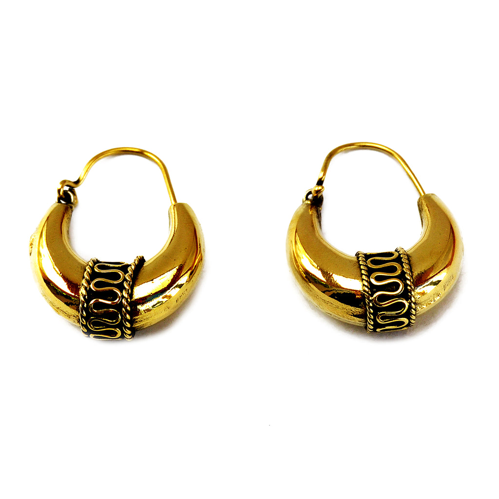 Tribal creole earrings