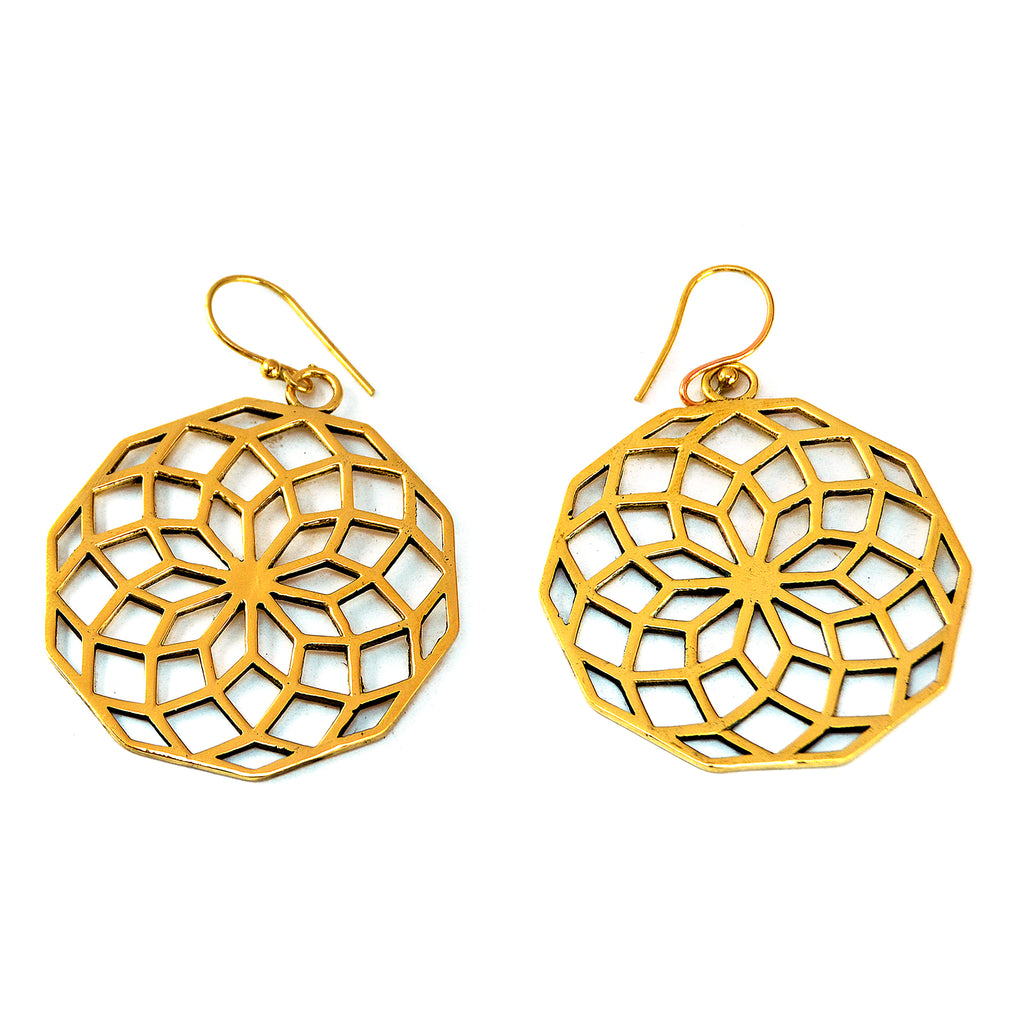 Mandala Flower Earrings