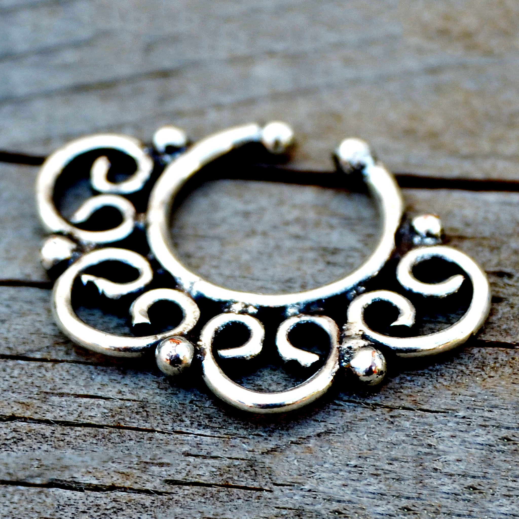Indian style septum nose ring