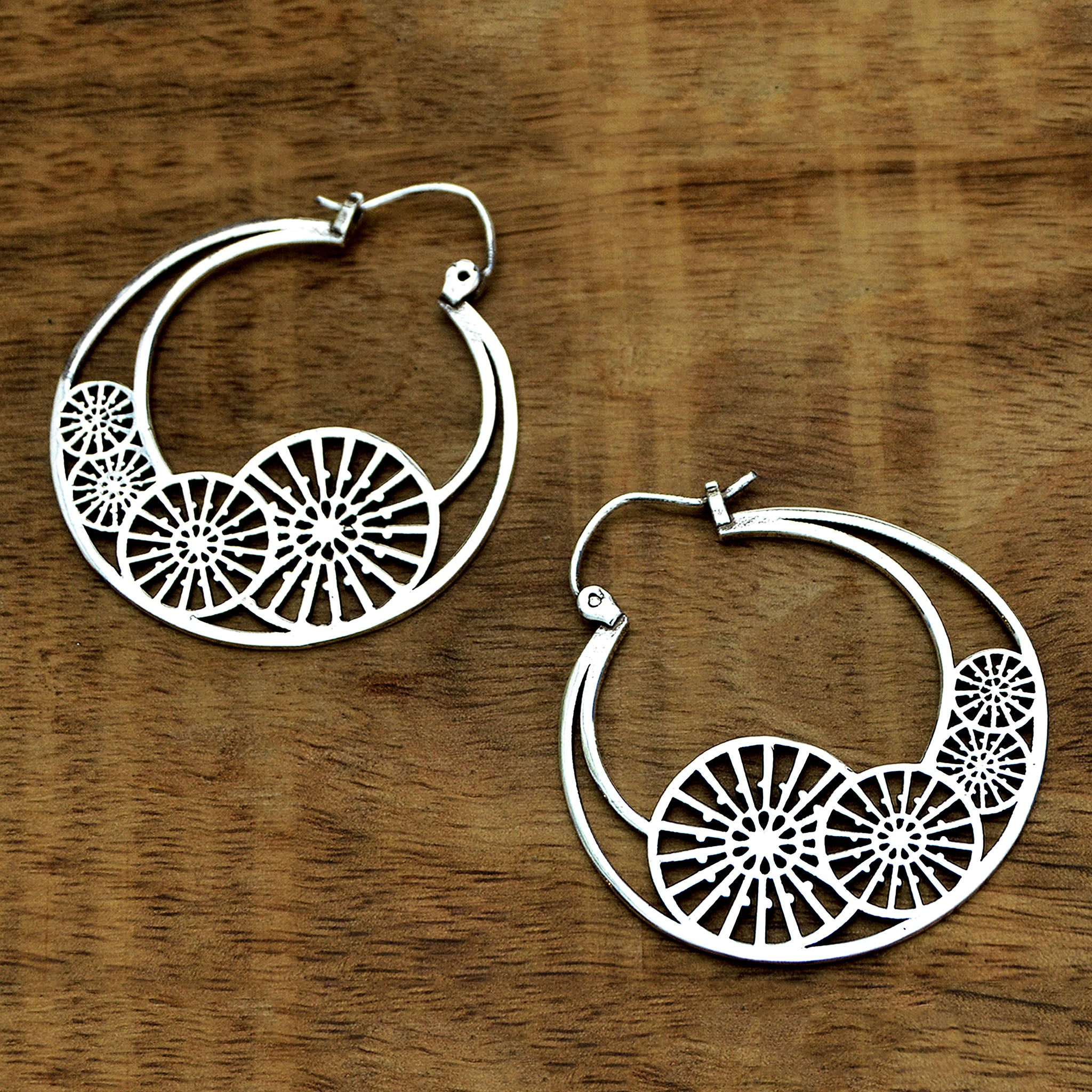 Ethiic hoop earrings