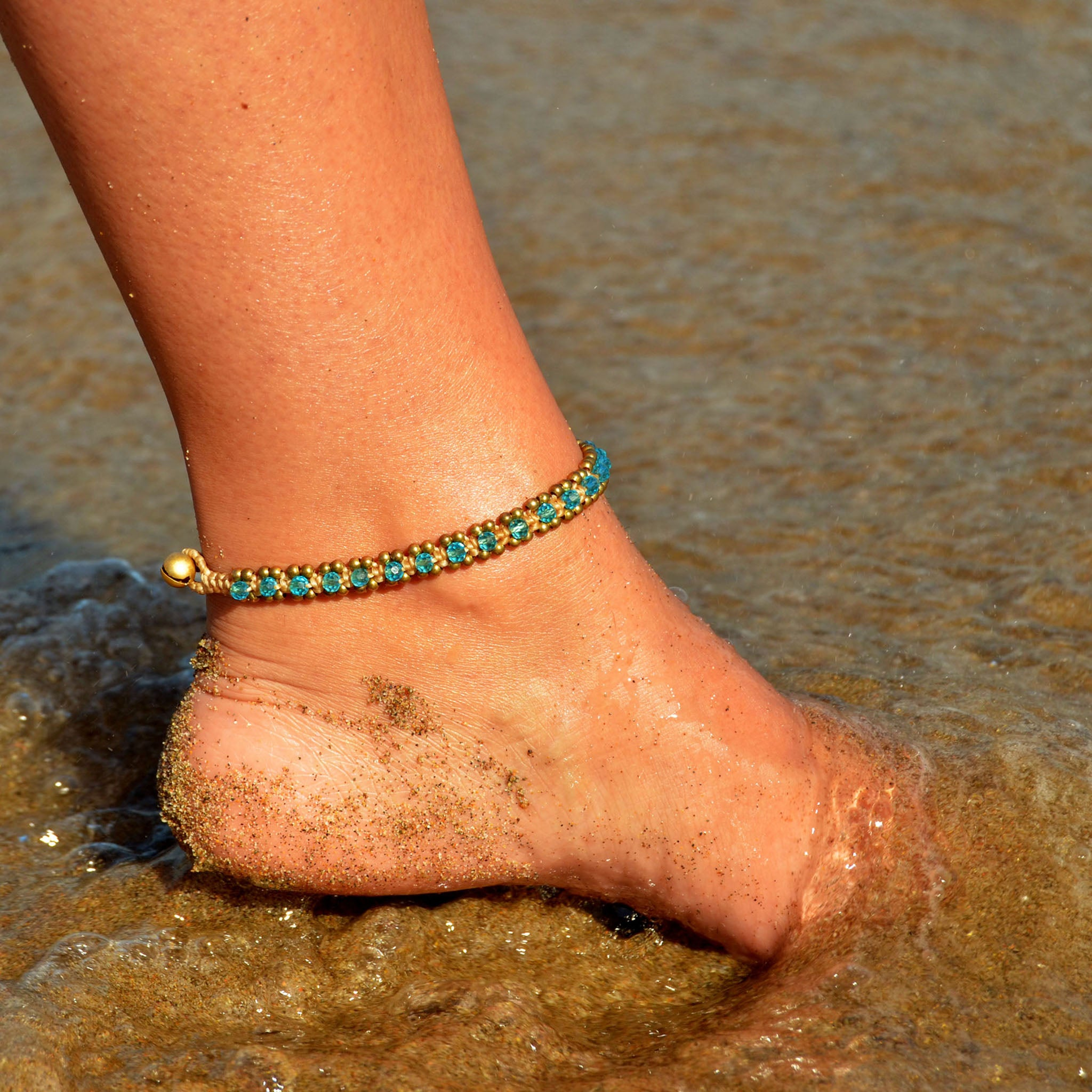 Silver tribal anklet