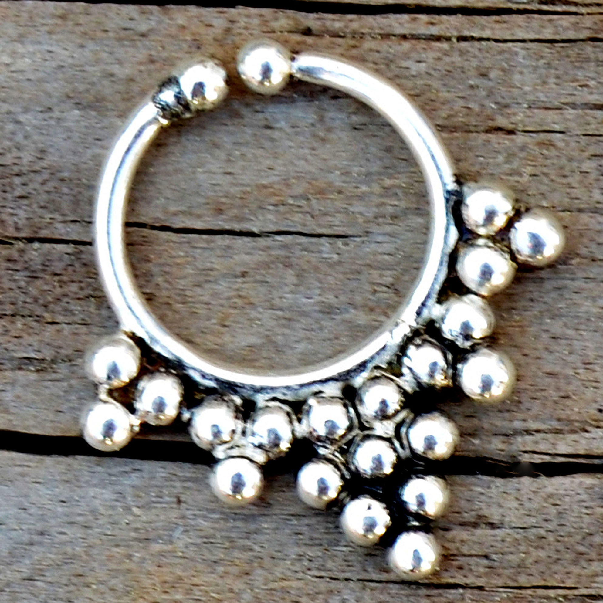 Nose ring silver