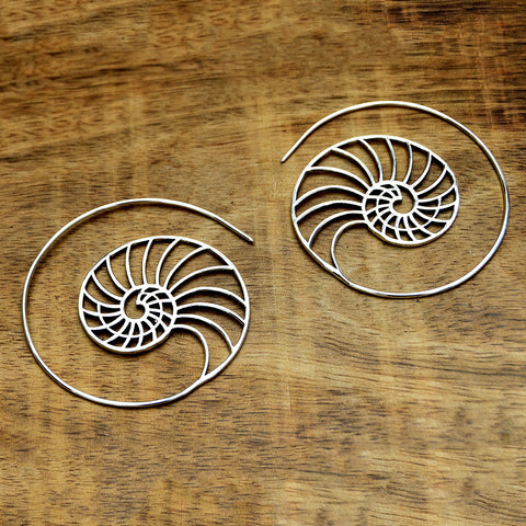 Nautilus Spiral Earrings