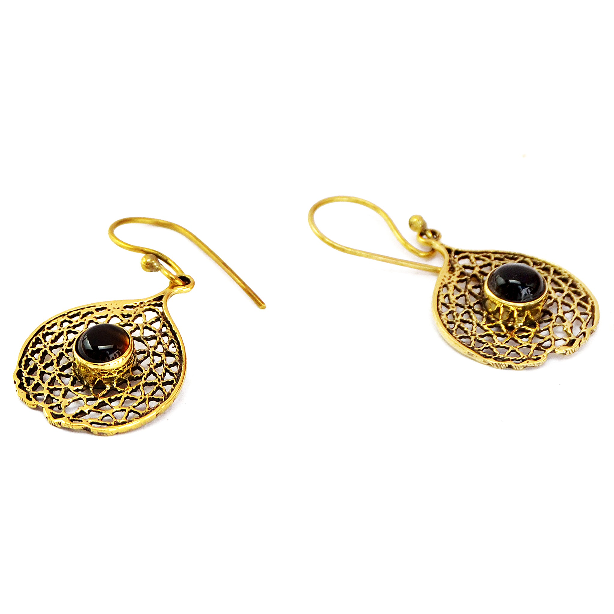Filigree earrings gold