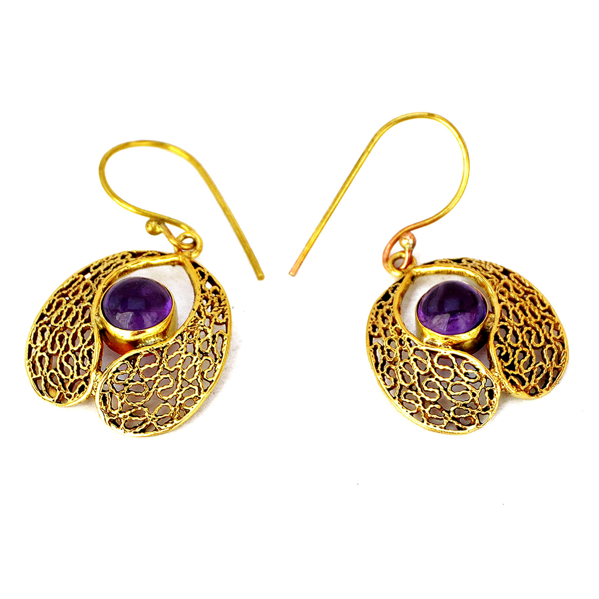 Indian filigree earrings with stones