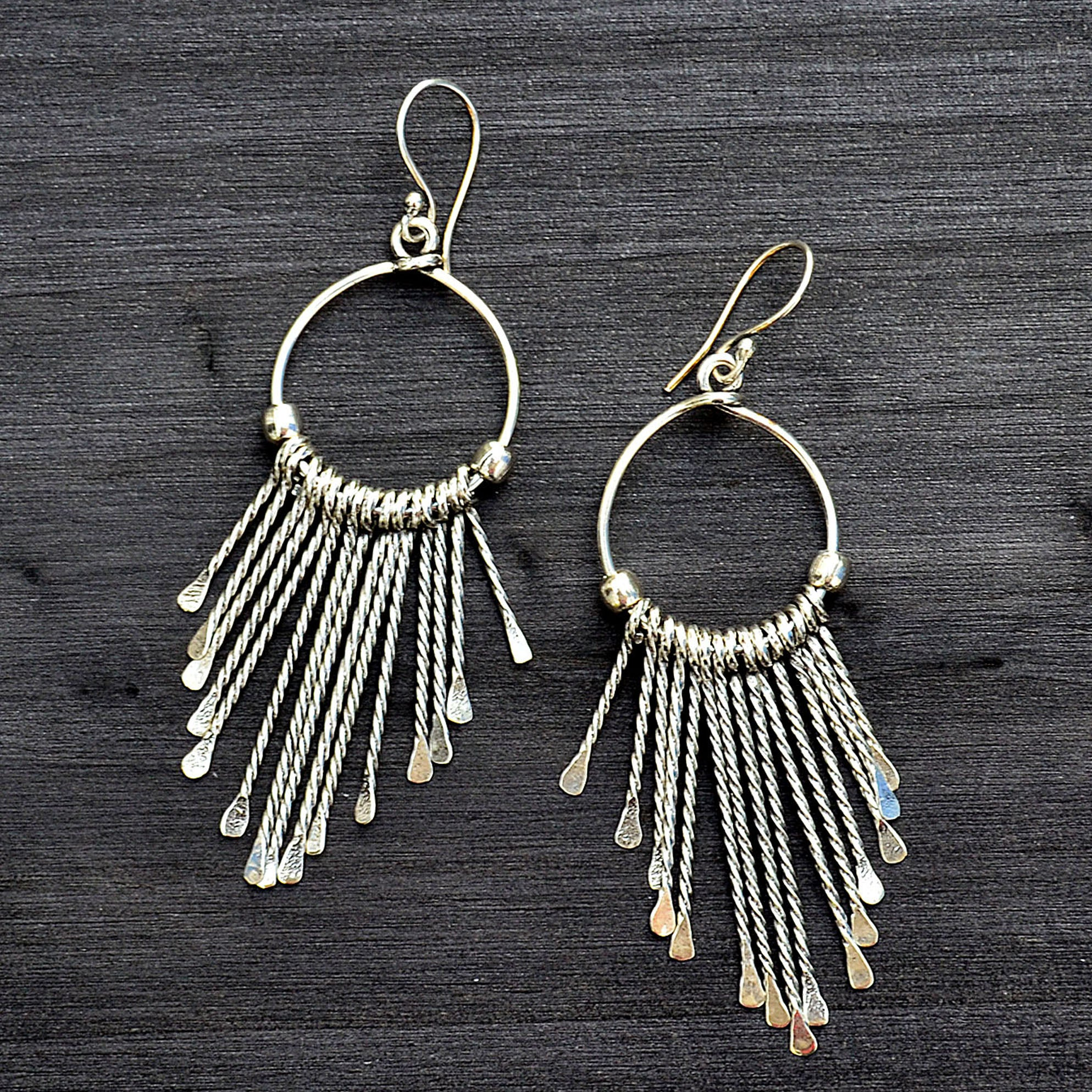 Hanging ear hoops