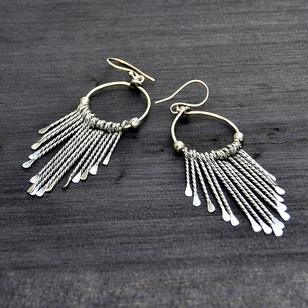 Silver filled hoop earrings