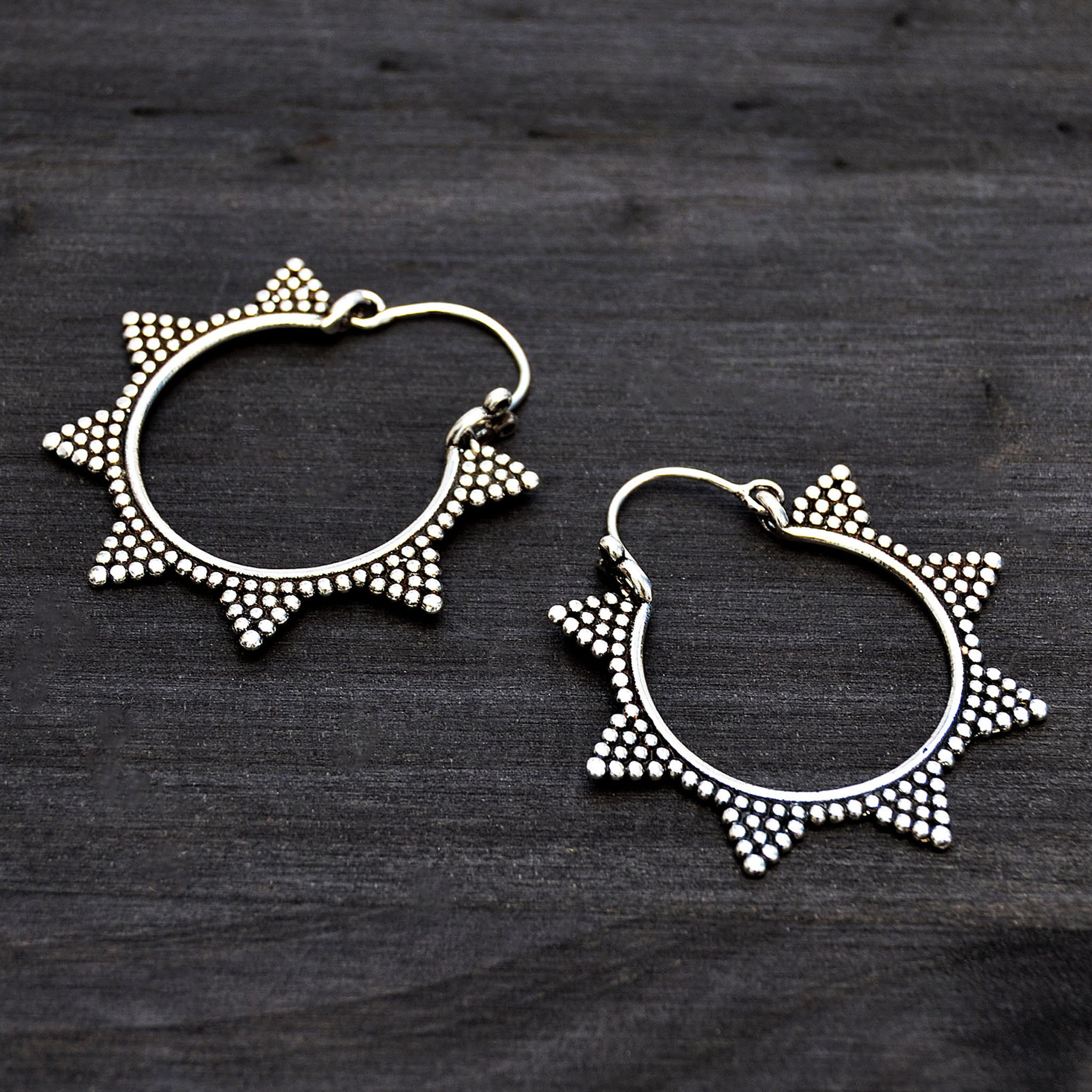 Indian creole earrings