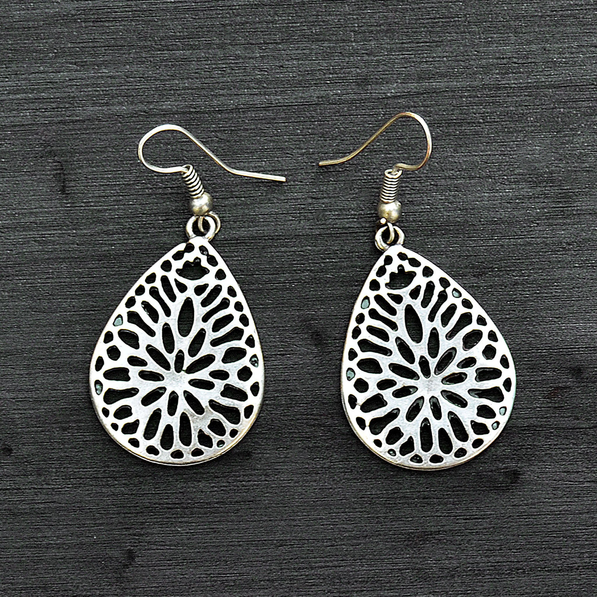 Turkmen drop earrings