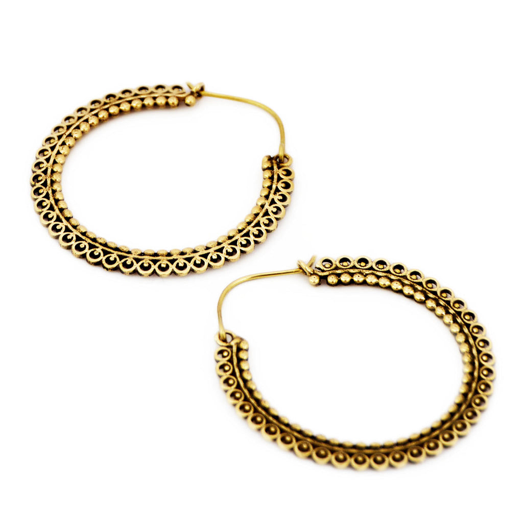 Brass gold earrings