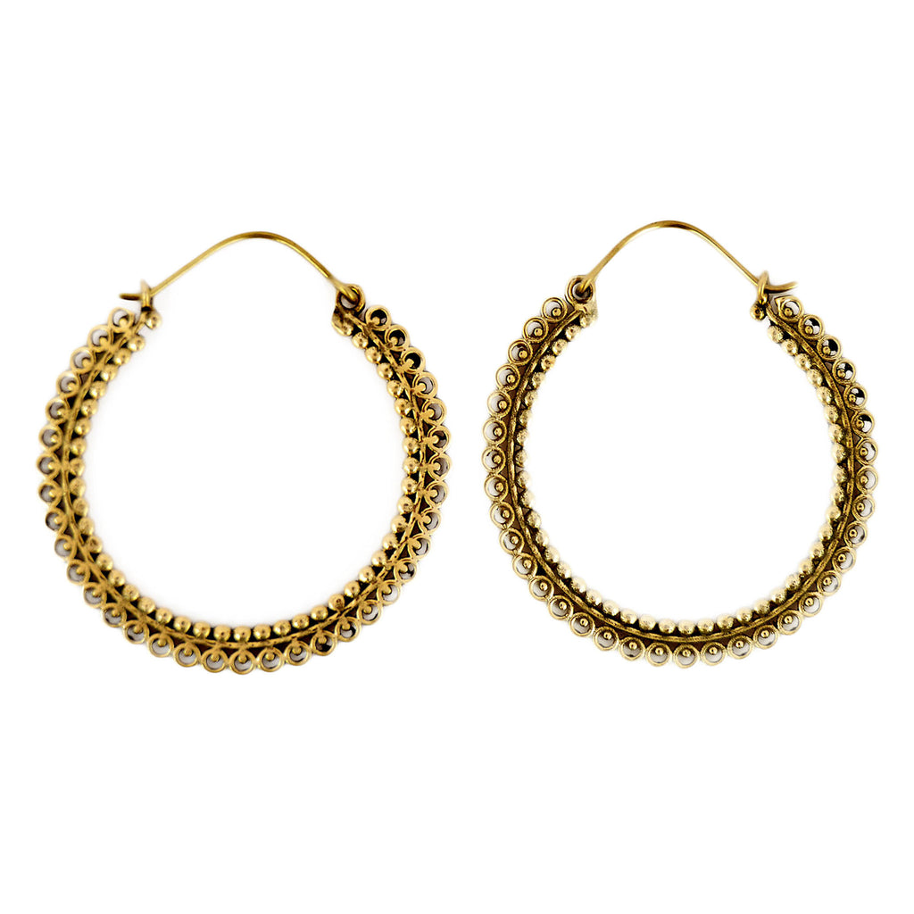 Indian tribal hoop earrings