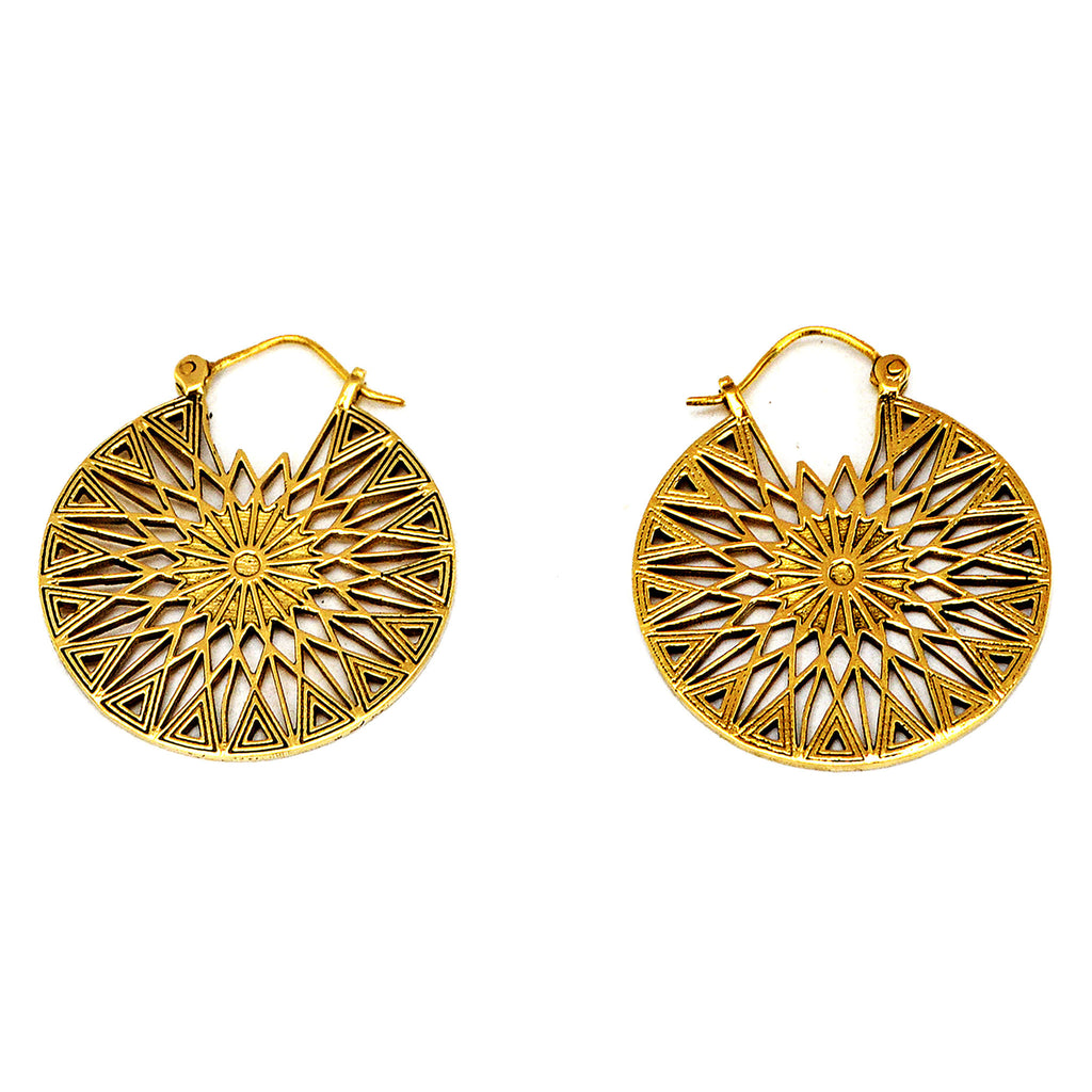 Sun Mandala Earrings