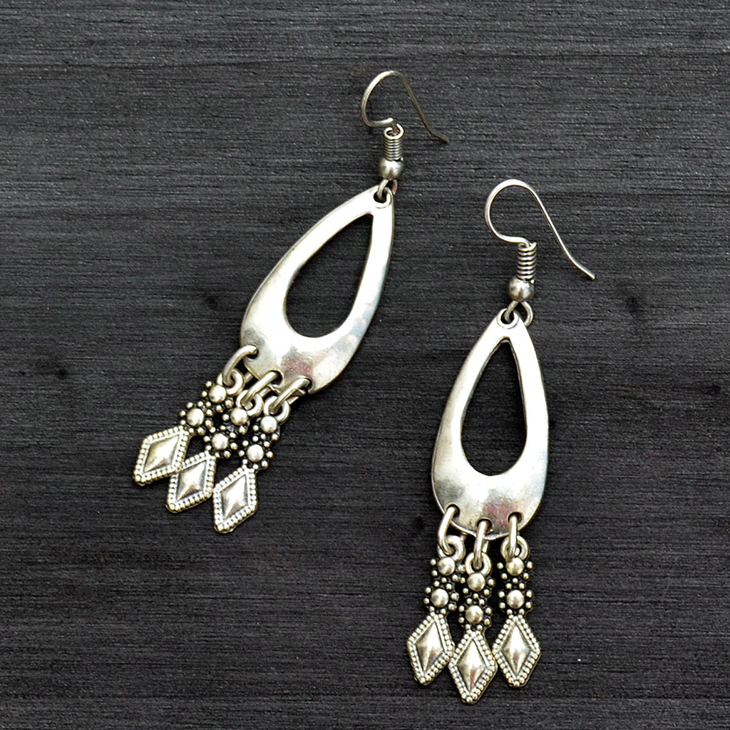 Turkmen dangle earrings
