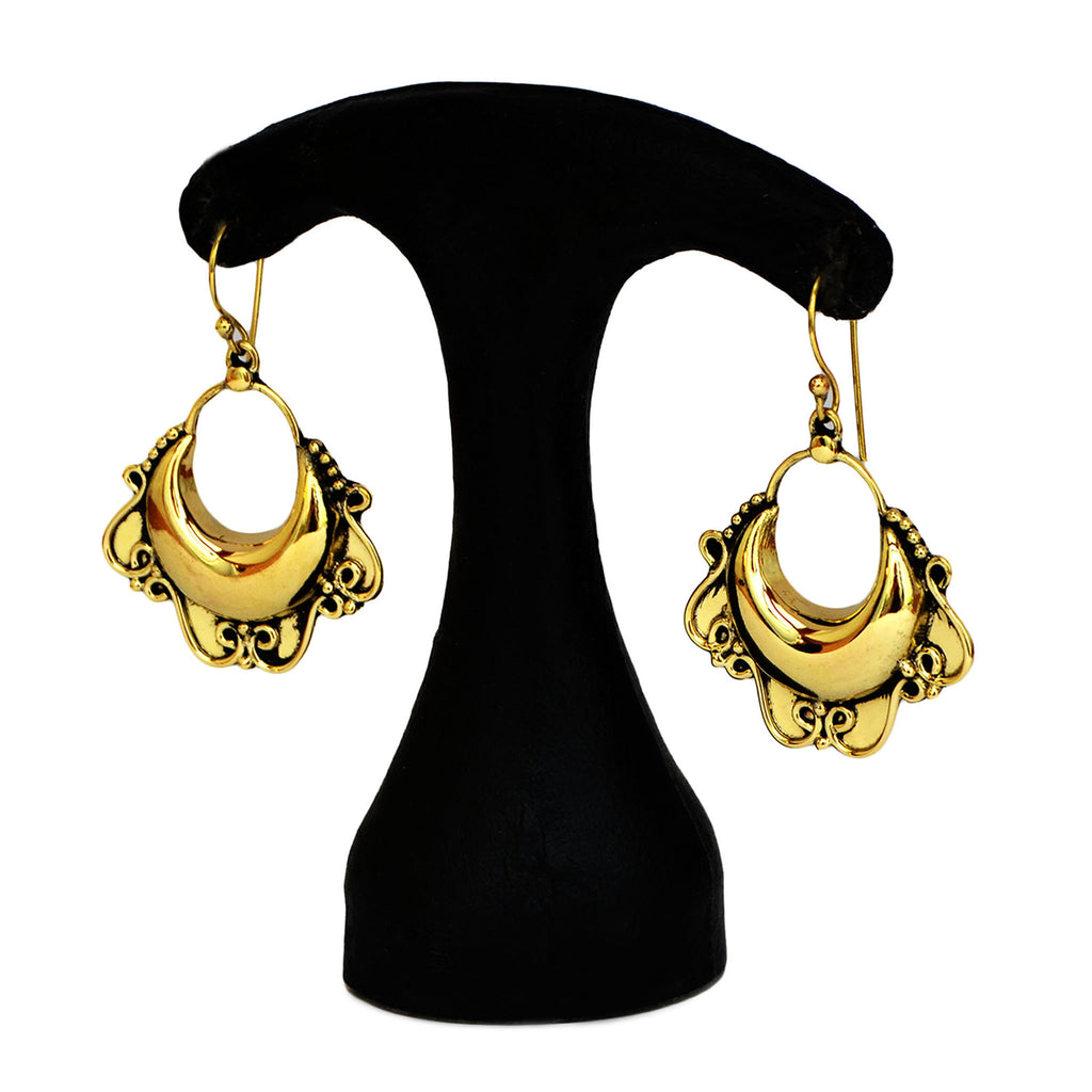 Ornate Hoop Earrings