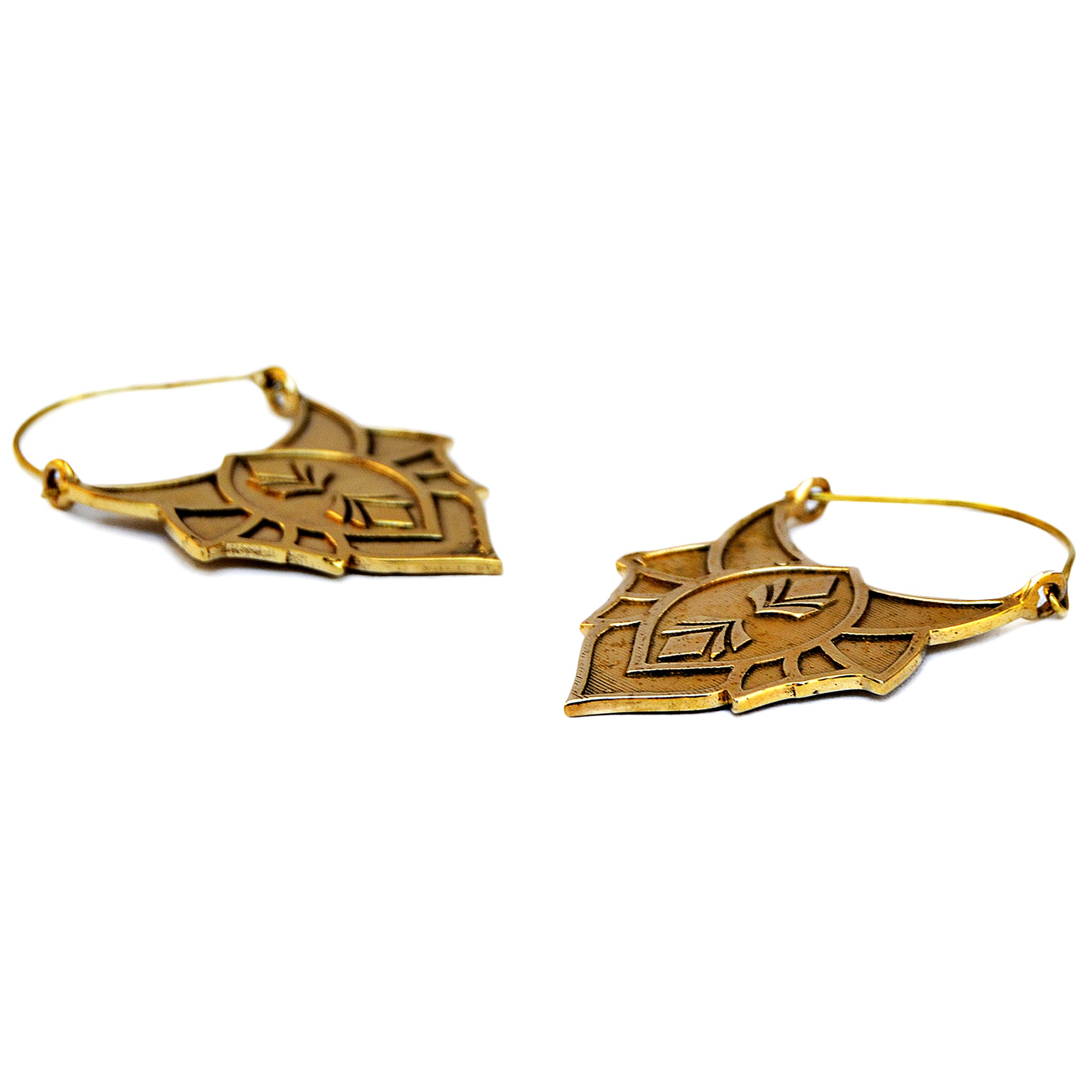 Indian brass earrings