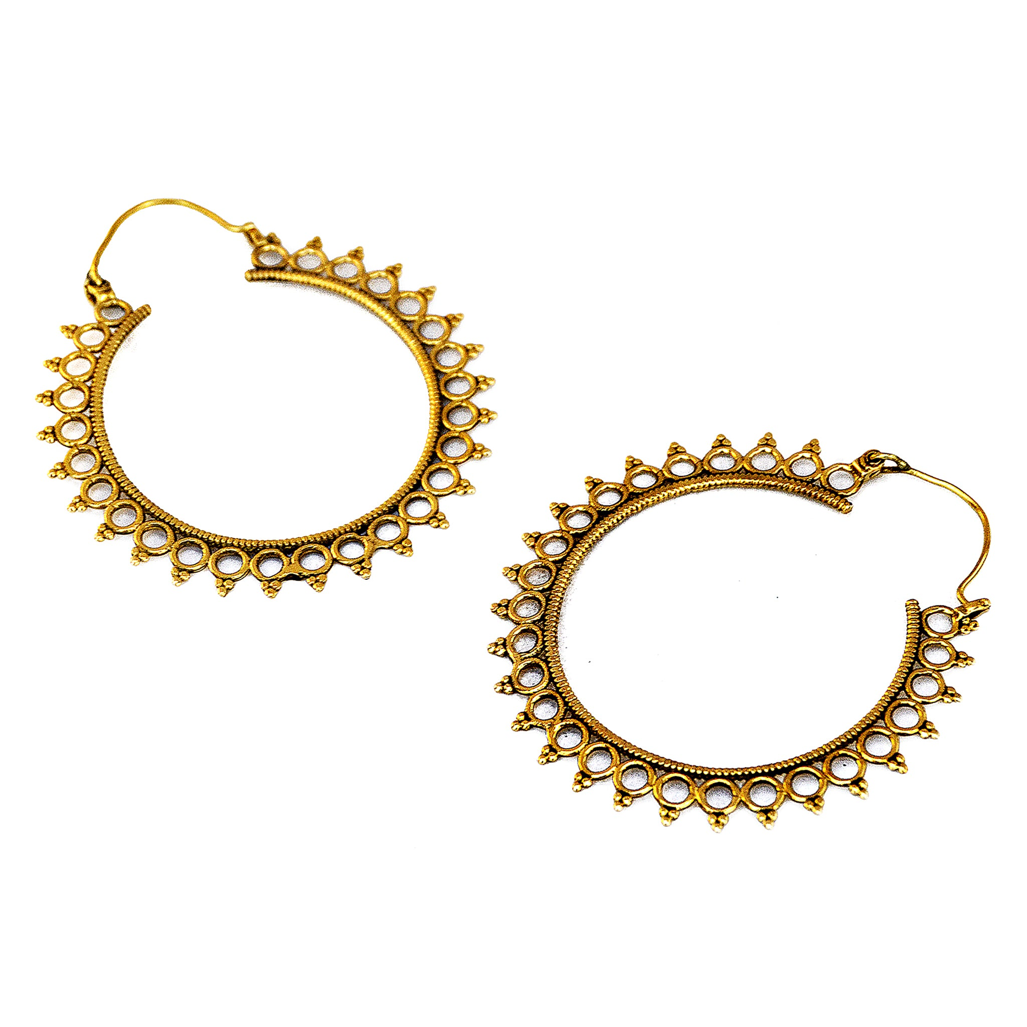 Big tribal earrings
