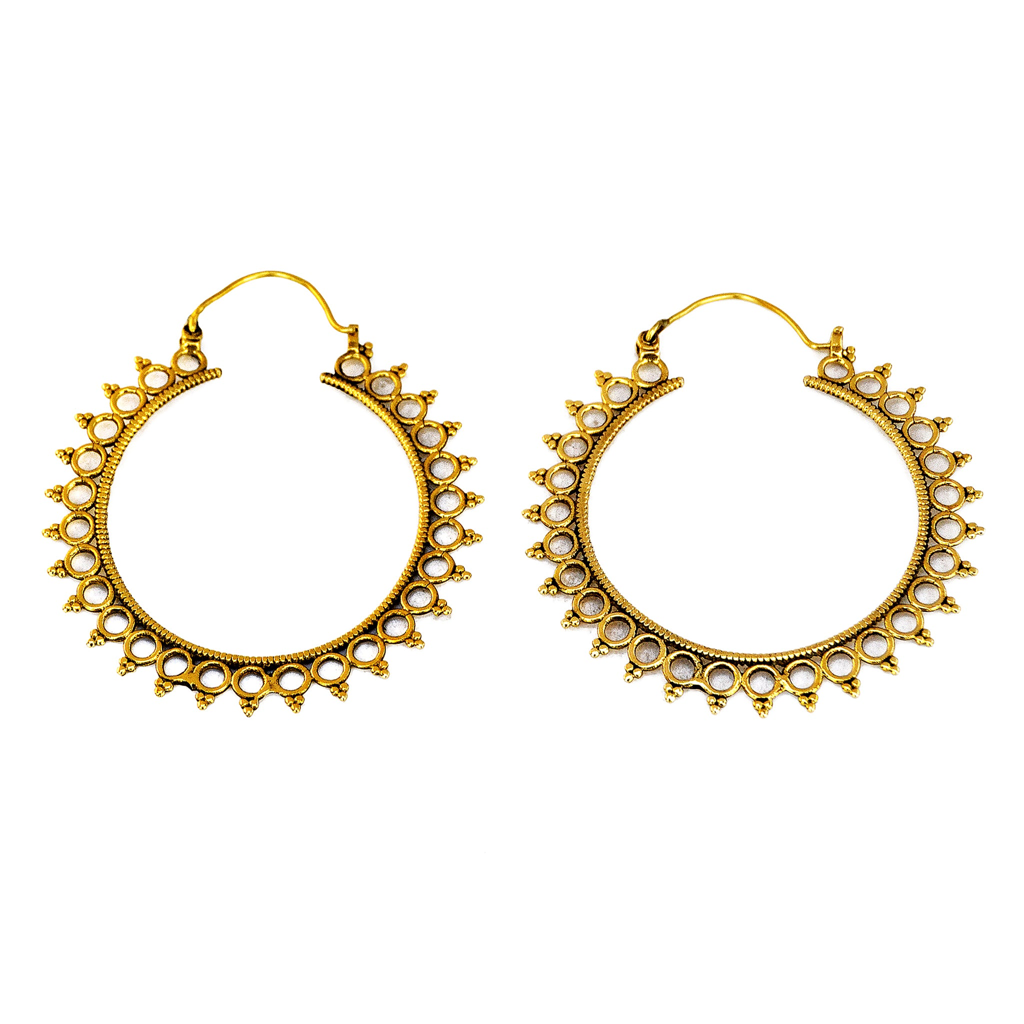 Large ethnic hoops